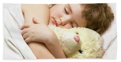 Sleeping Boy Hand Towel