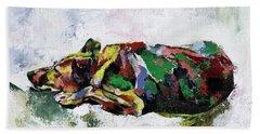 Sleeping Dog_2 Bath Towel