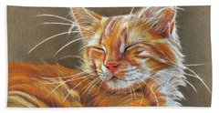 Sleeping Ginger Kitten Cc12-005 Bath Towel