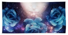 Bath Towel featuring the digital art Sleeping Rose by Mo T