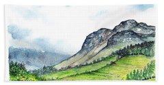 Bath Towel featuring the painting Sleeping Valley by Heidi Kriel
