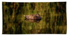 Hand Towel featuring the photograph Sleepy Duck, Yanchep National Park by Dave Catley