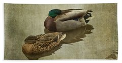 Bath Towel featuring the photograph Sleepy Ducks by Liz Alderdice