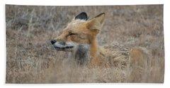 Sleepy Fox Hand Towel