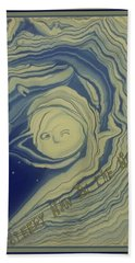 Sleepy Man In The Moon Hand Towel