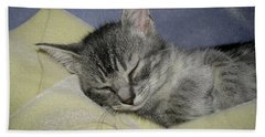 Sleepy Time Hand Towel by Donna Brown