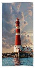 Sletringen Lighthouse Hand Towel by Anthony Dezenzio