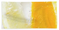 Slice Of Orange And Lemon In Cocktail Glass Bath Towel