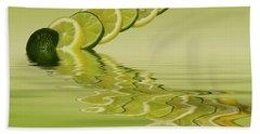 Bath Towel featuring the photograph Slices Lemon Lime Citrus Fruit by David French