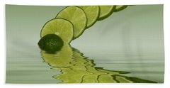 Bath Towel featuring the photograph Slices Lime Citrus Fruit by David French