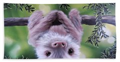 Sloth'n 'around Hand Towel by Dianna Lewis