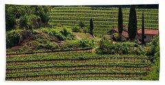 Hand Towel featuring the photograph Slovenian Vineyard by Stuart Litoff