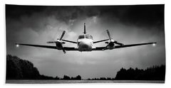 Small Airplane Low Flyby Bath Towel