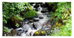 Small Alaskan Waterfall Hand Towel