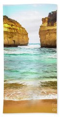 Bath Towel featuring the photograph Small Bay by Perry Webster