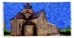 Hand Towel featuring the photograph Small Church 2 by Jean Bernard Roussilhe
