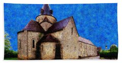 Hand Towel featuring the photograph Small Church 4 by Jean Bernard Roussilhe