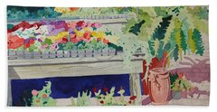 Small Garden Scene Bath Towel