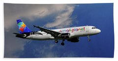 Small Planet Airbus A320-214 Hand Towel