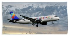 Small Planet Airlines Airbus A320-214 Hand Towel