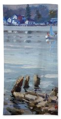 Small Town Across Niagara River Bath Towel