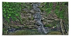 Small Waterfall Bath Towel by Andy Lawless