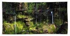 Bath Towel featuring the photograph Small Waterfall by Elena Elisseeva