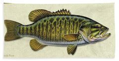 Smallmouth Bass Id Bath Towel