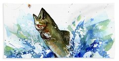 Smallmouth Bass Hand Towel