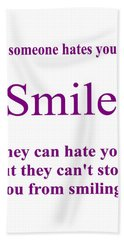 Smile Hand Towel