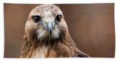 Smiling Bird Of Prey Hand Towel