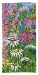 Smiling Flowers Bath Towel