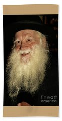 Smiling Picture Of Rabbi Yehuda Zev Segal Hand Towel