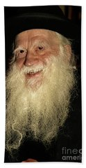 Bath Towel featuring the photograph Smiling Picture Of Rabbi Yehuda Zev Segal by Doc Braham