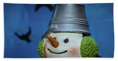 Smiling Snowman Hand Towel