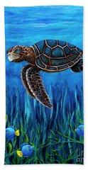Smirking Turtle Hand Towel