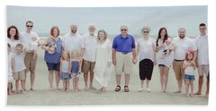Smith Family At The Beach Hand Towel