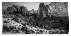 Smith Rock Black And White Hand Towel