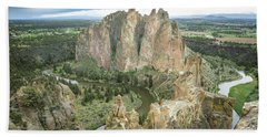 Smith Rock From Misery Ridge Bath Towel