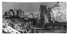 Smith Rock State Park Crooked River Hand Towel