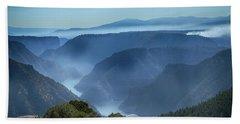 Smoke Over Flaming Gorge Bath Towel