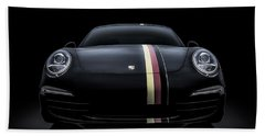 Black Porsche 911 Bath Towel