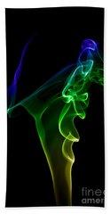 Hand Towel featuring the photograph smoke XIV by Joerg Lingnau