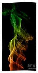 Hand Towel featuring the photograph smoke XXII by Joerg Lingnau