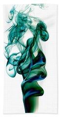 Hand Towel featuring the photograph smoke XXIII by Joerg Lingnau