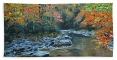 Smokey Mountain Autumn Hand Towel by Stanton Allaben