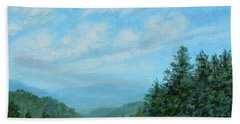 Smokey Mountains Calling Me Bath Towel by Kathleen McDermott