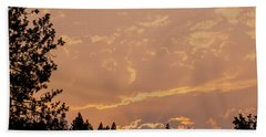 Smokey Skies Sunset Hand Towel