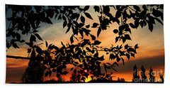 Smoked Filled Sunset Hand Towel by Janice Westerberg