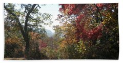 Smokies 12 Hand Towel by Val Oconnor
